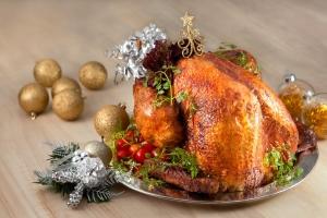 Christmas Turkey stuffed with Molten Cheese
