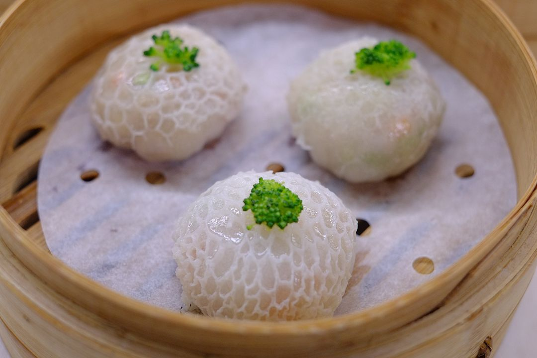 Steamed Bamboo Pith and Fungus Dumplings with Assorted Mushrooms